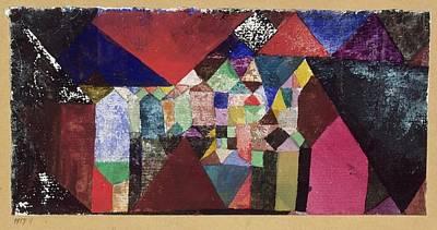 Municipal Jewel Art Print by Paul Klee