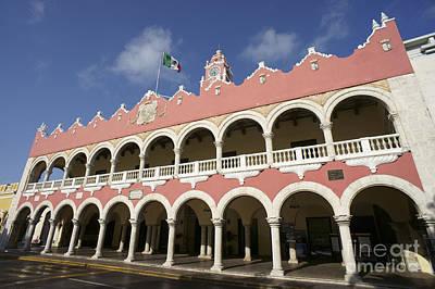 Photograph - Municipal Palace Merida Mexico by John  Mitchell