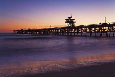 Municipal Pier At Sunset San Clemente Art Print by Richard Cummins