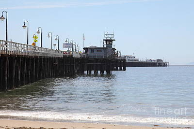 Santa Cruz Wharf Photograph - Municipal Wharf At The Santa Cruz Beach Boardwalk California 5d23767 by Wingsdomain Art and Photography