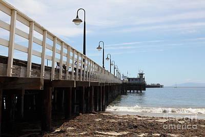 Santa Cruz Wharf Photograph - Municipal Wharf At The Santa Cruz Beach Boardwalk California 5d23768 by Wingsdomain Art and Photography