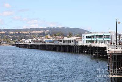 Santa Cruz Wharf Photograph - Municipal Wharf At The Santa Cruz Beach Boardwalk California 5d23813 by Wingsdomain Art and Photography