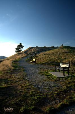 Photograph - Munson Mountain Benches 4-18-2014  by Guy Hoffman