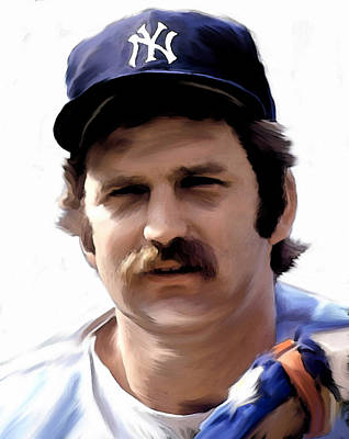 Baseball Art Painting - Munson Thurman Munson  by Iconic Images Art Gallery David Pucciarelli