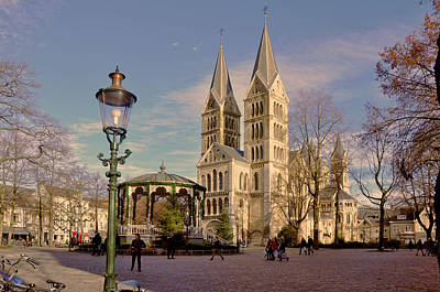 Square Photograph - Munster Church Roermond by Nop Briex