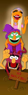 Muppet's Stretching Room Portrait #1 Art Print by Lisa Leeman
