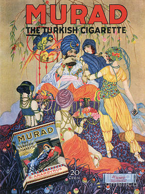 Nineteen-tens Drawing - Murad Turkish  1910s Usa Egyptian by The Advertising Archives