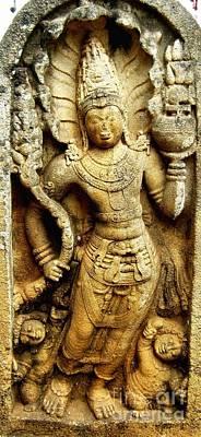 Ancient City Photograph - Muragala - Anuradhapura - Engravings 1 by Surendra Silva