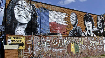 Photograph - Mural And Graffiti by Allen Sheffield