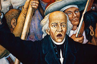 Mural Depicting Miguel Hidalgo, Mexico Art Print by Dick Davis