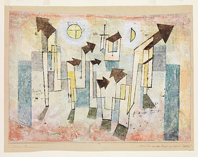 Mural From The Temple Of Longing Thither Art Print by Paul Klee
