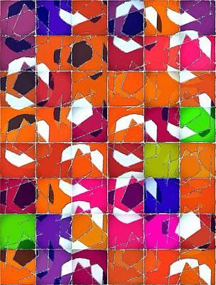 Painting - Mural Geometry by Florian Rodarte