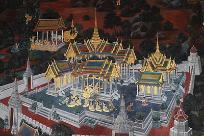Mural - Grand Palace In Bangkok Thailand - 01131 Art Print by DC Photographer