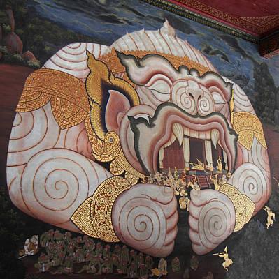 Mural - Grand Palace In Bangkok Thailand - 011311 Art Print by DC Photographer