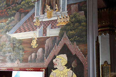 Mural - Grand Palace In Bangkok Thailand - 01133 Art Print by DC Photographer
