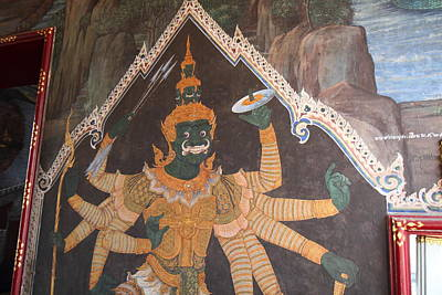 Mural - Grand Palace In Bangkok Thailand - 01134 Art Print by DC Photographer
