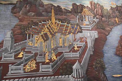 Mural - Grand Palace In Bangkok Thailand - 01135 Art Print