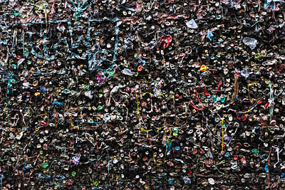Mural Made Of Used Chewing Gums Art Print by Panoramic Images