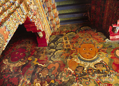 Photograph - Mural Of Gaurdian Of The North - Potala Palace Tibet by Craig Lovell