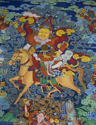 Mural Of Ling Kesar - Litang Chode Monastery Art Print