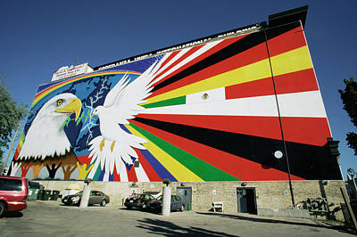 Mural Photograph - Mural Of Peace by David Hay Jones/science Photo Library