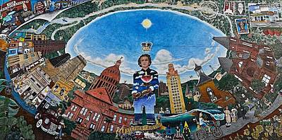 Photograph - Mural Of Stephen F Austin Off Guadalupe by Kristina Deane