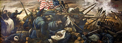 Black History Painting - Mural Of The 54th Massachusetts And Colonel Shaw  by Mountain Dreams