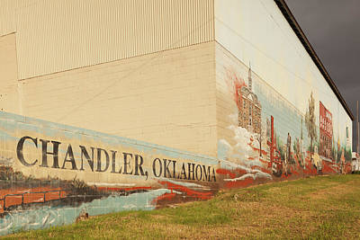 Route 66 Photograph - Mural On A Wall, Route 66, Chandler by Panoramic Images