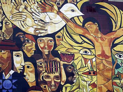 Photograph - Mural Street Art Ecuador 1 by Kurt Van Wagner