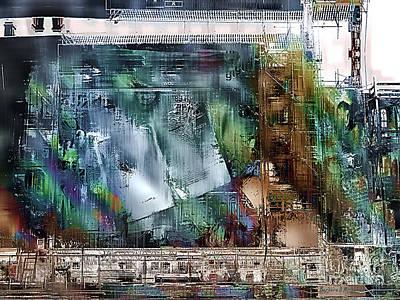 Mural Under Construction Art Print by Barbara D Richards