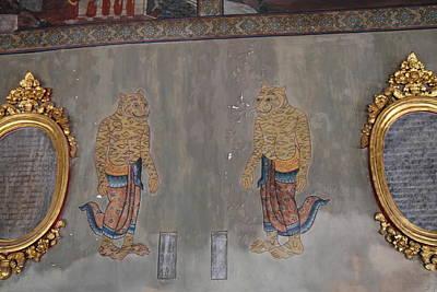 Mural - Wat Pho - Bangkok Thailand - 01132 Art Print by DC Photographer