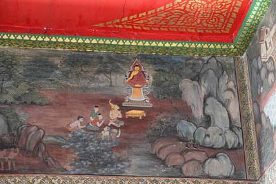 Mural - Wat Pho - Bangkok Thailand - 01134 Art Print by DC Photographer