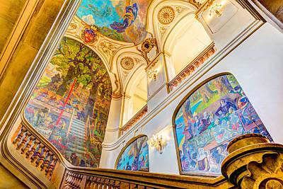 Photograph - Murals Of Capitole De Toulouse by Semmick Photo