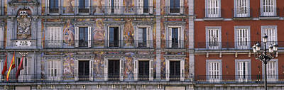 Murals On The Wall Of A Building, Plaza Art Print by Panoramic Images