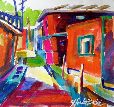 Murano Back Street Italy Original by Therese Fowler-Bailey