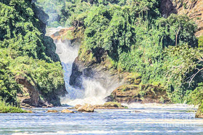 Victoria Falls Digital Art - Murchison Falls River Nile Uganda by Liz Leyden