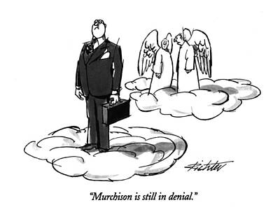 Angels Drawing - Murchison Is Still In Denial by Mischa Richter