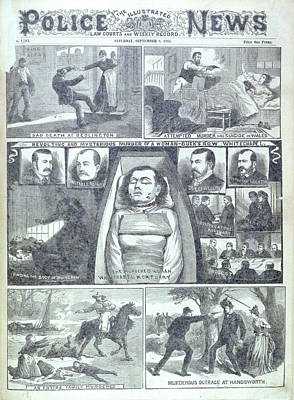 Murder At Buck's Row Art Print by British Library