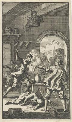 Murder By Cardinal Del Monte, 1560, Jan Luyken Art Print