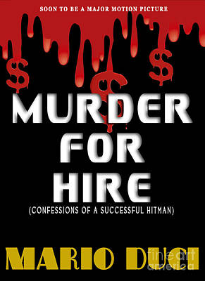 Pocketbook Cover Design Photograph - Murder For Hire Book Cover by Mike Nellums