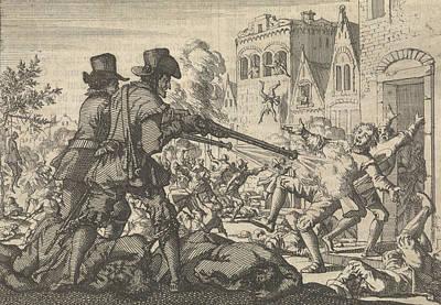 Reform Drawing - Murder Of Reformed People At Tirano, 1620 by Jan Luyken And Pieter Van Der Aa (i)