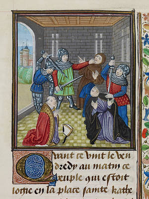 Murder Of The Archbishop Of Canterbury Art Print by British Library