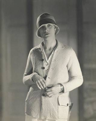 Muriel Photograph - Muriel Finley Wearing A Sweater-coat by Edward Steichen