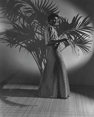 Muriel Photograph - Muriel King Wearing A Dress And Jacket by John Rawlings