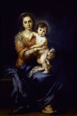 Painting - Murillo Madonna by Granger