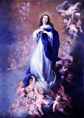 Digital Art - Murillo Vintage Mary by Robert Kernodle