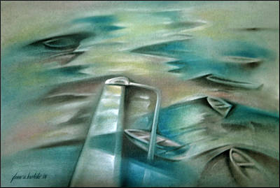 Painting - Muros Fishing Village 2006 by Glenn Bautista