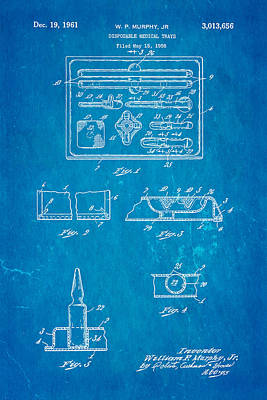 Murphy Photograph - Murphy Disposable Medical Tray Patent Art 1961 Blueprint by Ian Monk