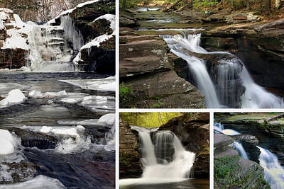 Photograph - Murray Reynolds Falls In Every Season by Gene Walls