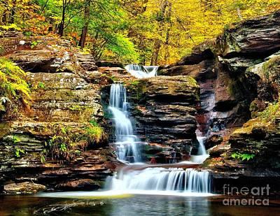 Photograph - Murray Reynolds Falls - Ricketts Glen by Nick Zelinsky